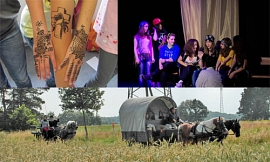 Bodypainting, Theater, Planwagen